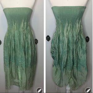 Mermaid bustled crinkle dress skirt